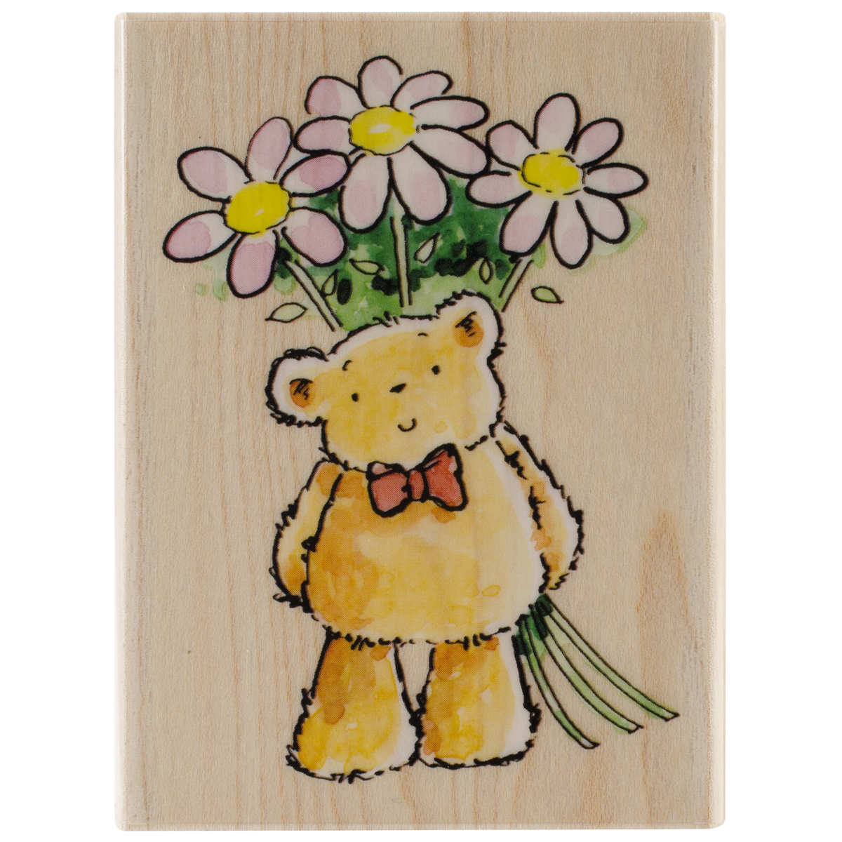 Penny Black Mounted Rubber Stamp Flower Bear