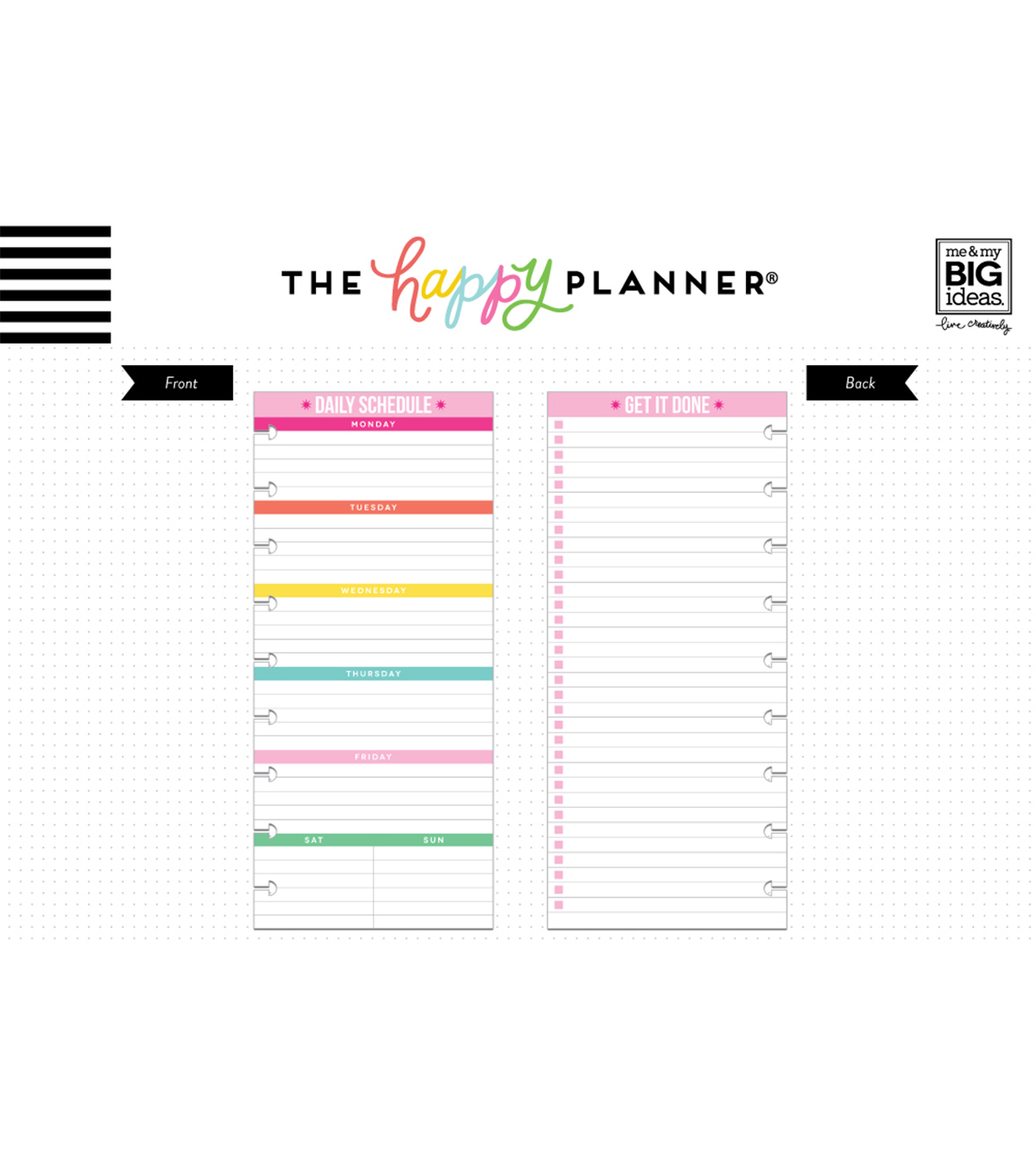 photo relating to Daily Planner named The Pleased Planner 50 % Sheet Papers-Day by day Program