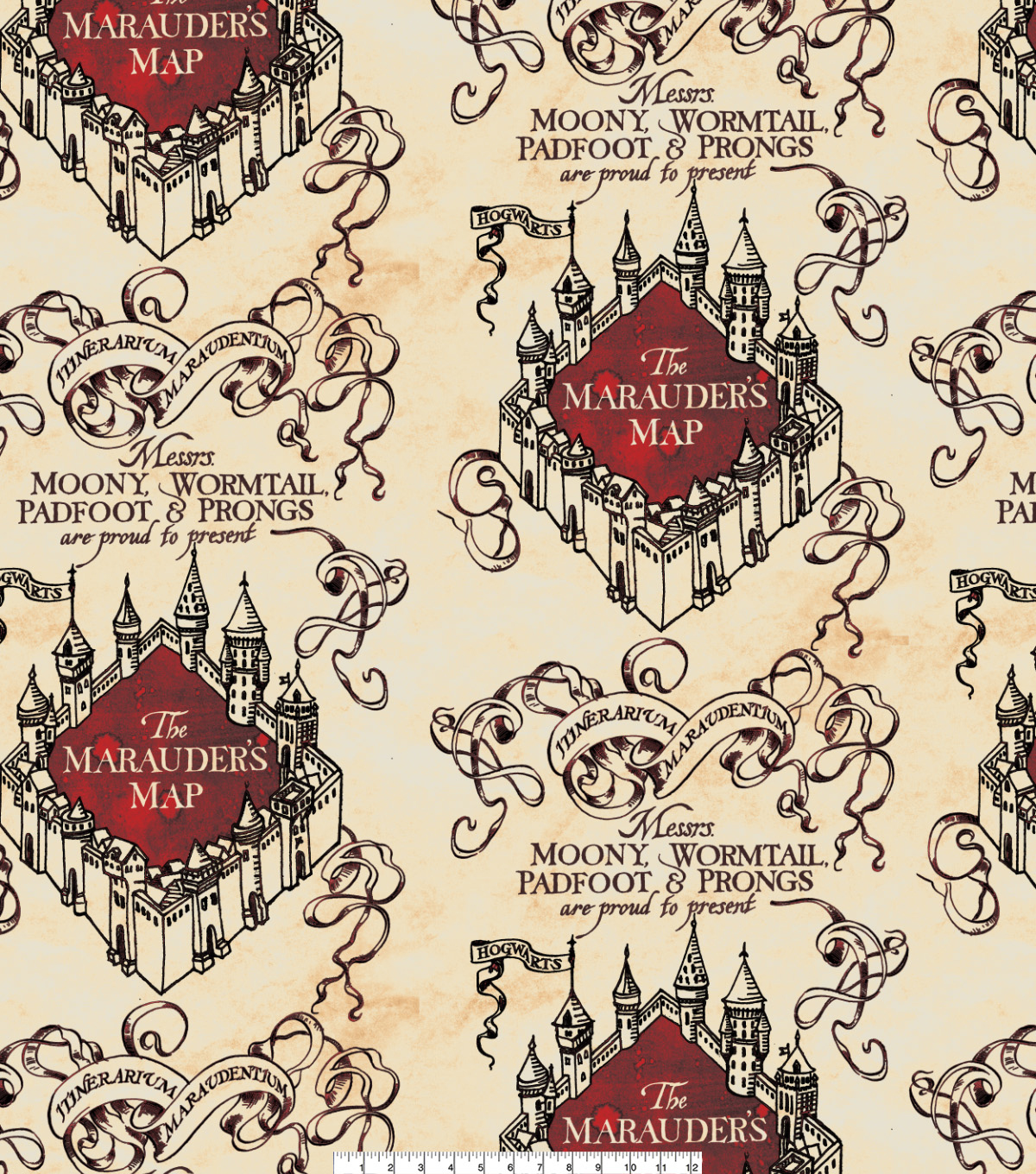 Harry Potter Fleece Fabric-Marauders Map Simplified on secret s map harry potter, map in game of thrones, map harry potter books, fictional map harry potter,