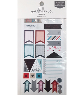 Park Lane 58 pk Sticker Tags-Goal