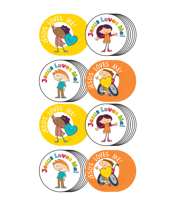 Carson Dellosa Loves Me Stickers 72 Per Pack 12 Packs