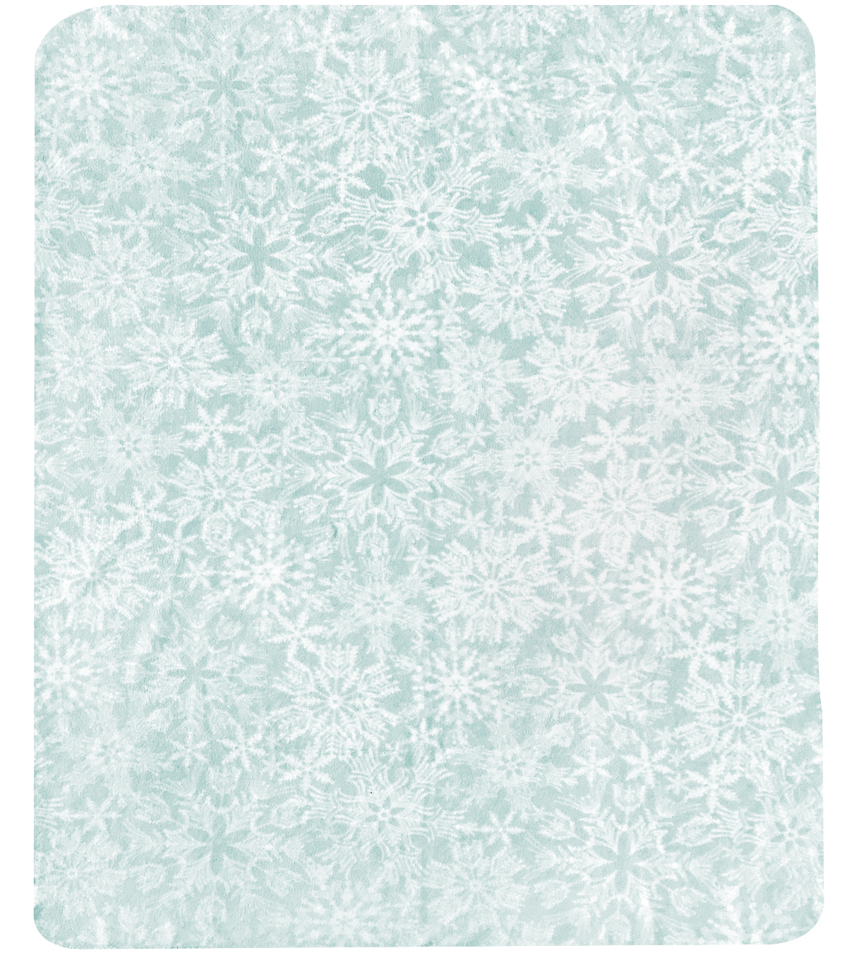 Christmas No Sew Fleece Throw 72\u0027\u0027-Snowflakes on Ice Blue