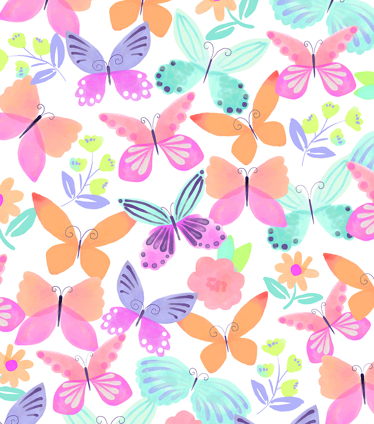 Anti-Pill Fleece Fabric 58\u0022-April Butterfly