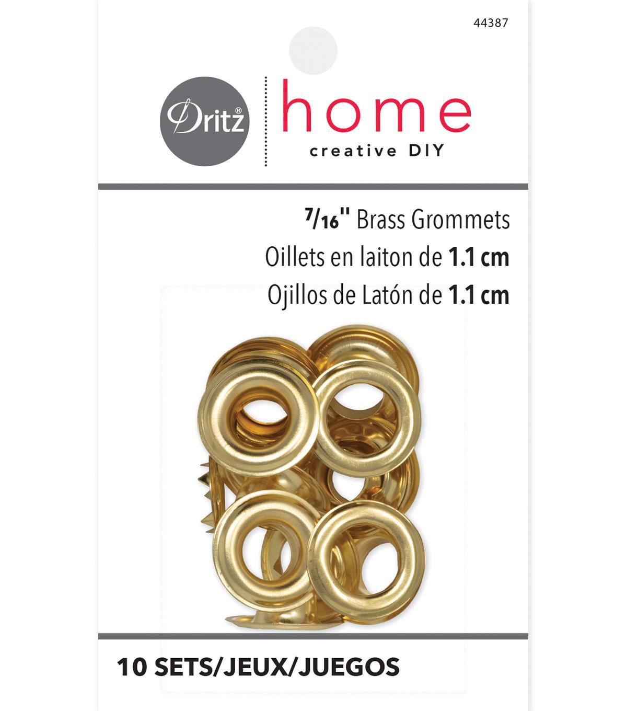 Dritz Home Grommets Brass