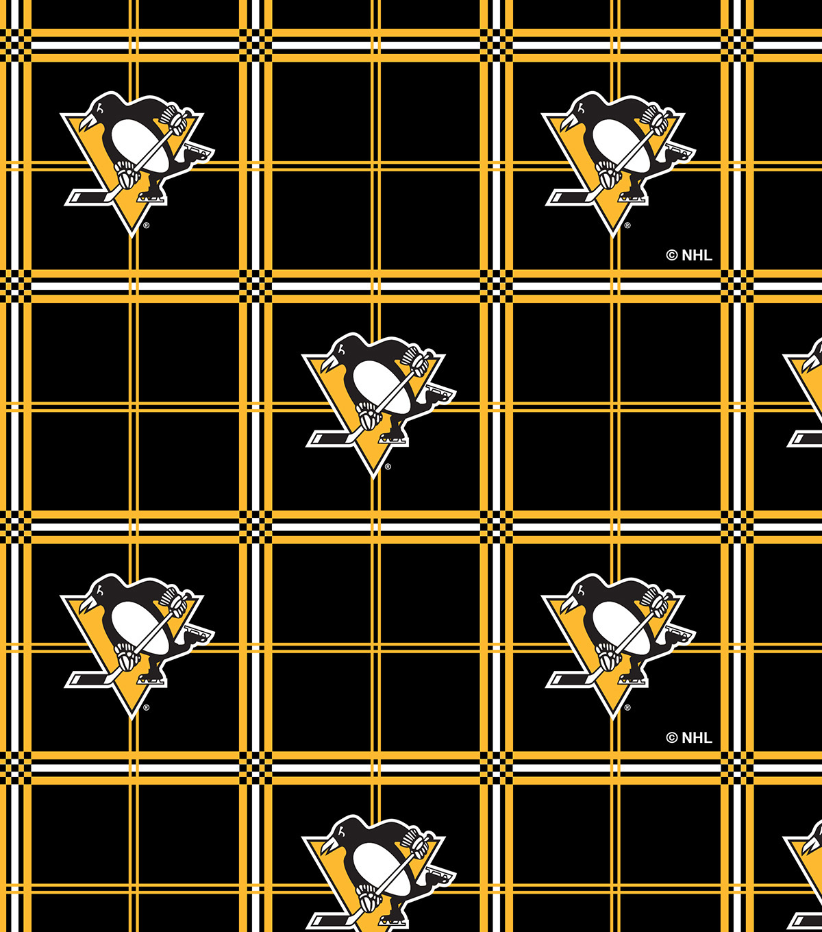 huge selection of 33252 93c4d Pittsburgh Penguins Flannel Fabric -Plaid