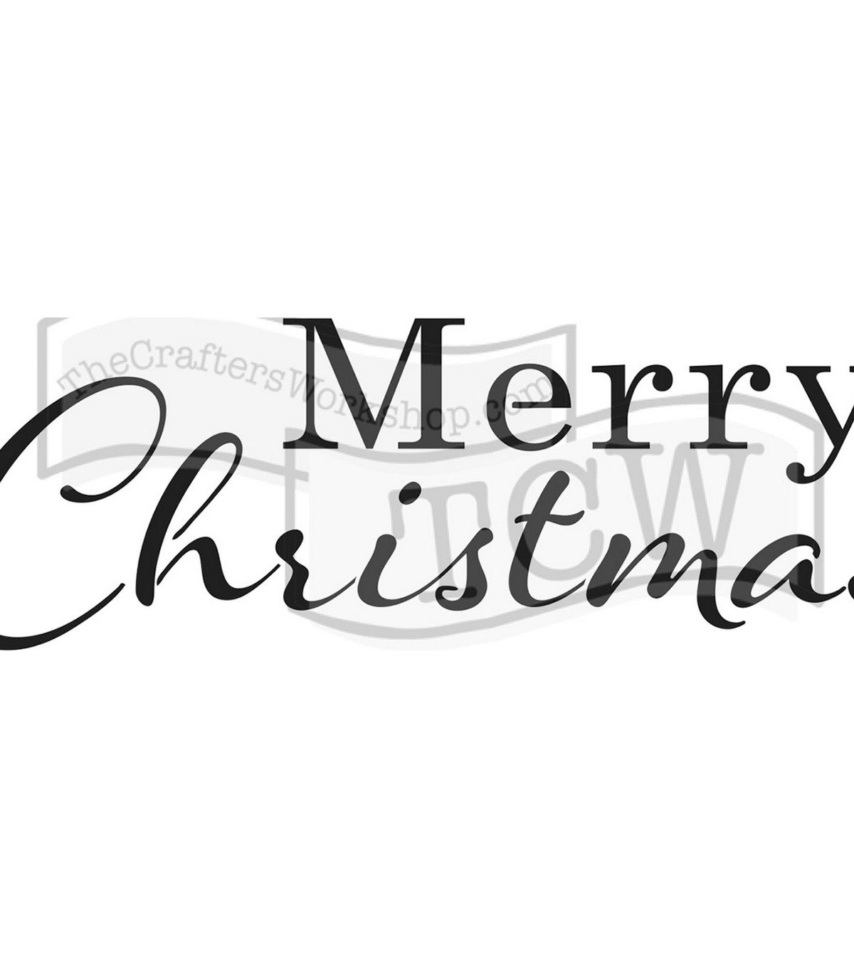 The Crafter\u0027s Workshop DIY Rustic Sign Stencil-Merry Christmas