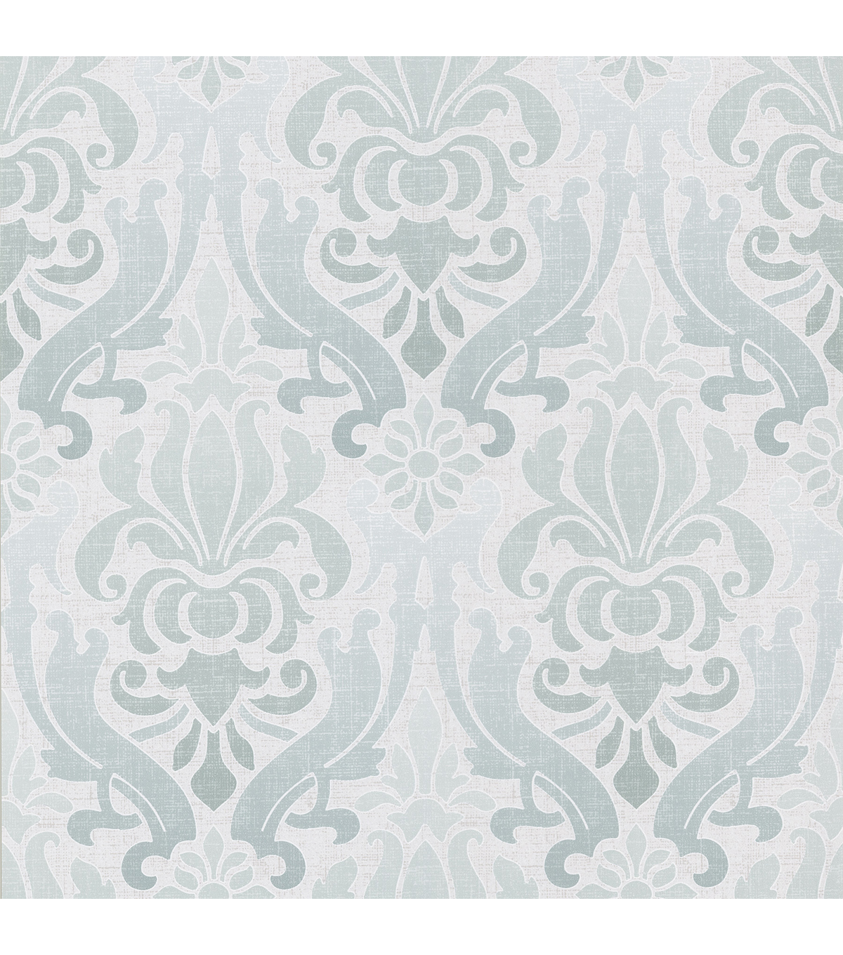 Aquitaine Aqua Nouveau Damask  Wallpaper Sample