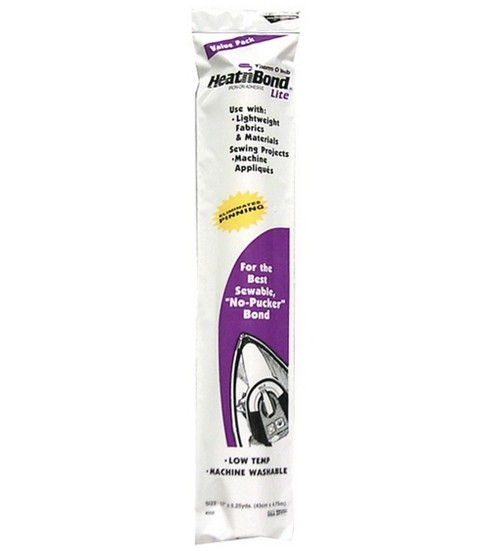 HeatnBond Lite Iron-on Adhesive-17\u0022W x 5yds