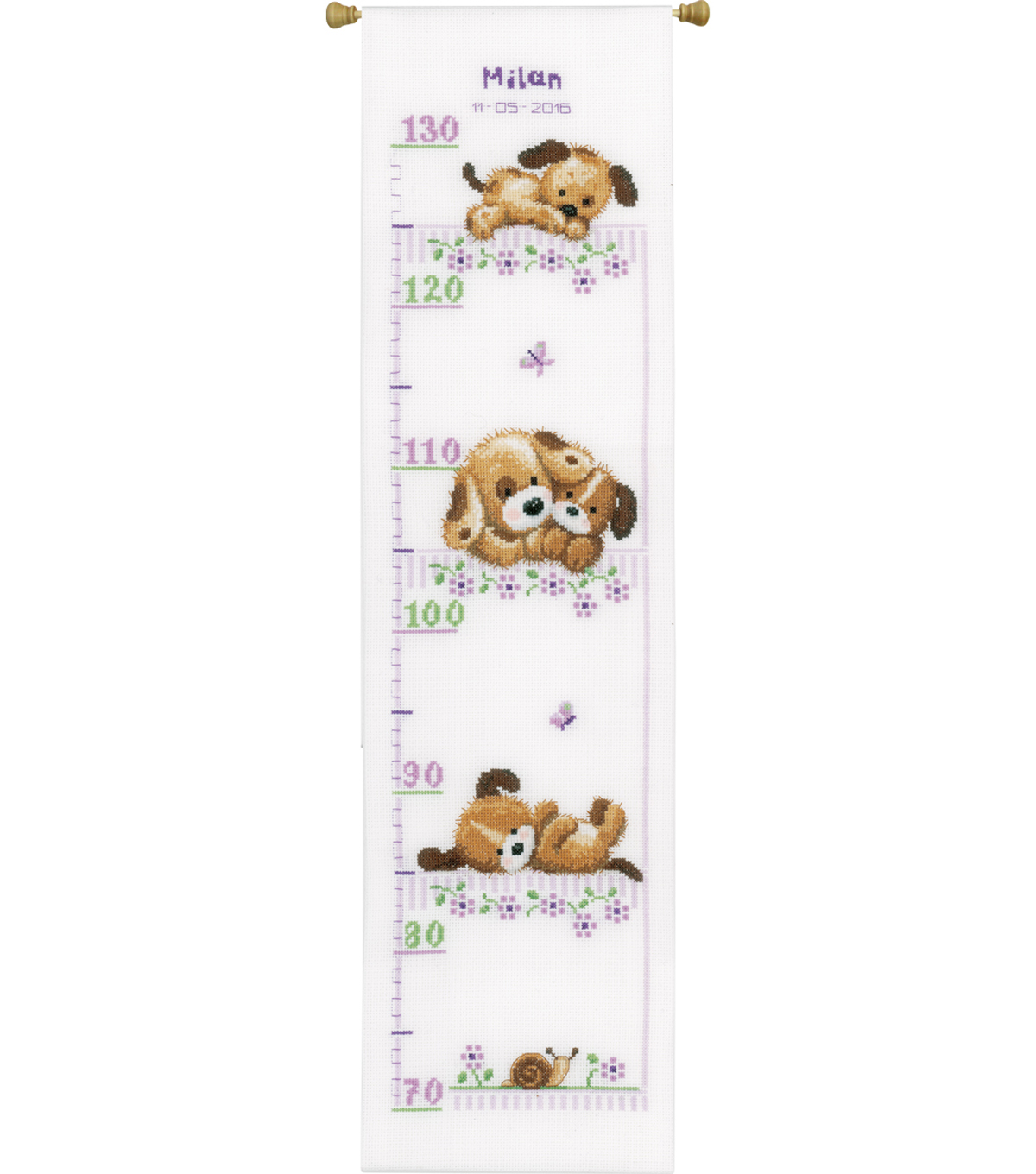 Vervaco 72x28 Counted Cross Stitch Kit Playing Dogs Growth
