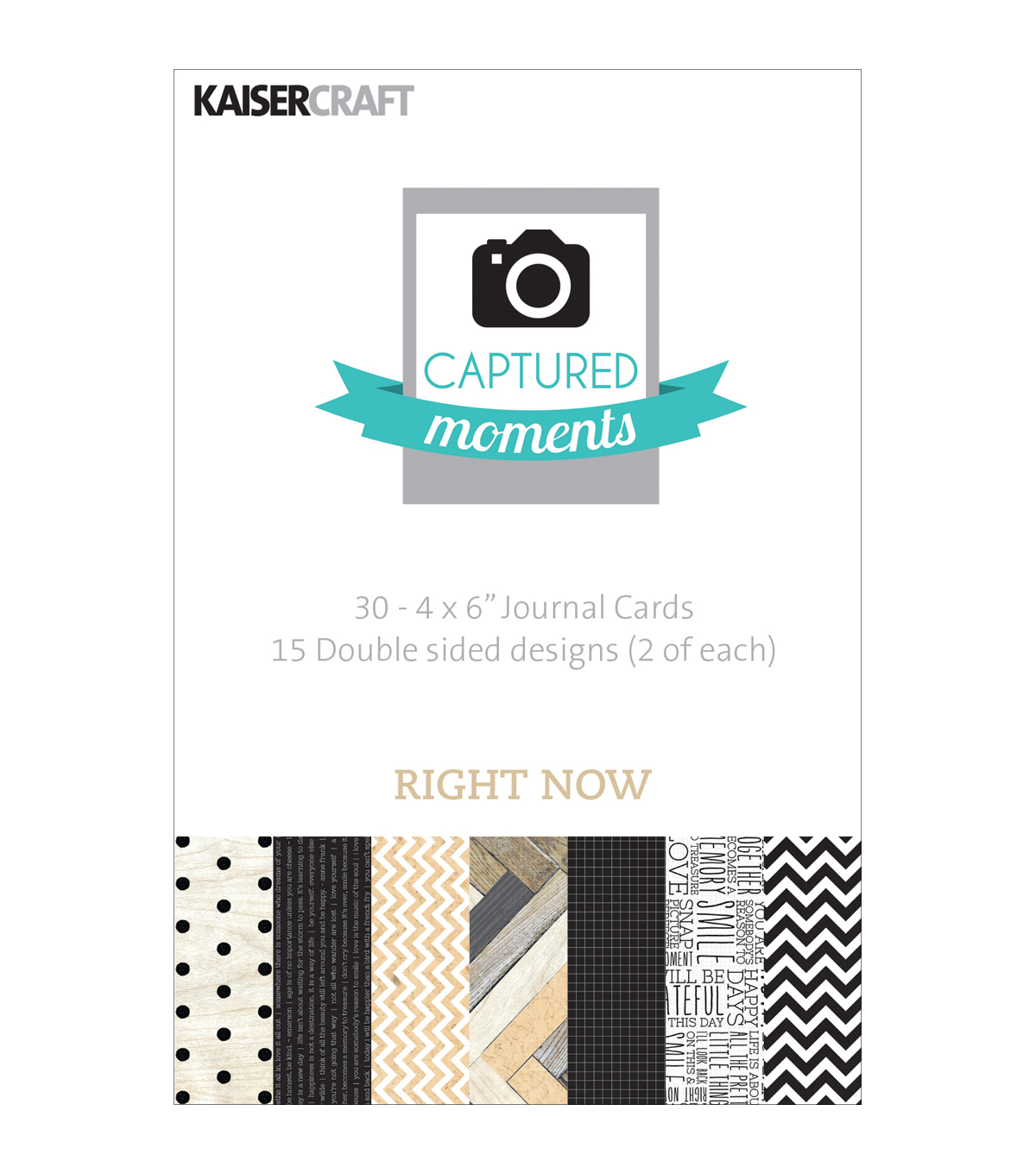 Captured Moments Double-Sided Cards 6\u0022X4\u0022 30/Pkg-Right Now
