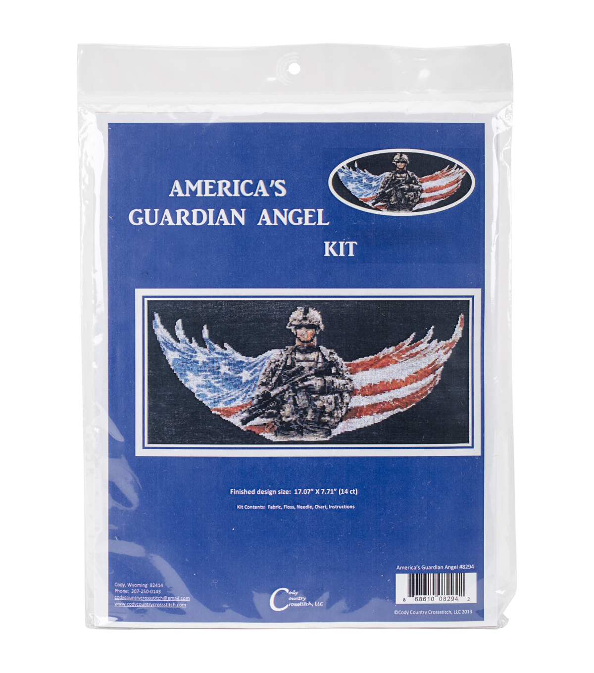 Cody Country Counted Cross Stitch Kit-America\u0027s Guardian Angel