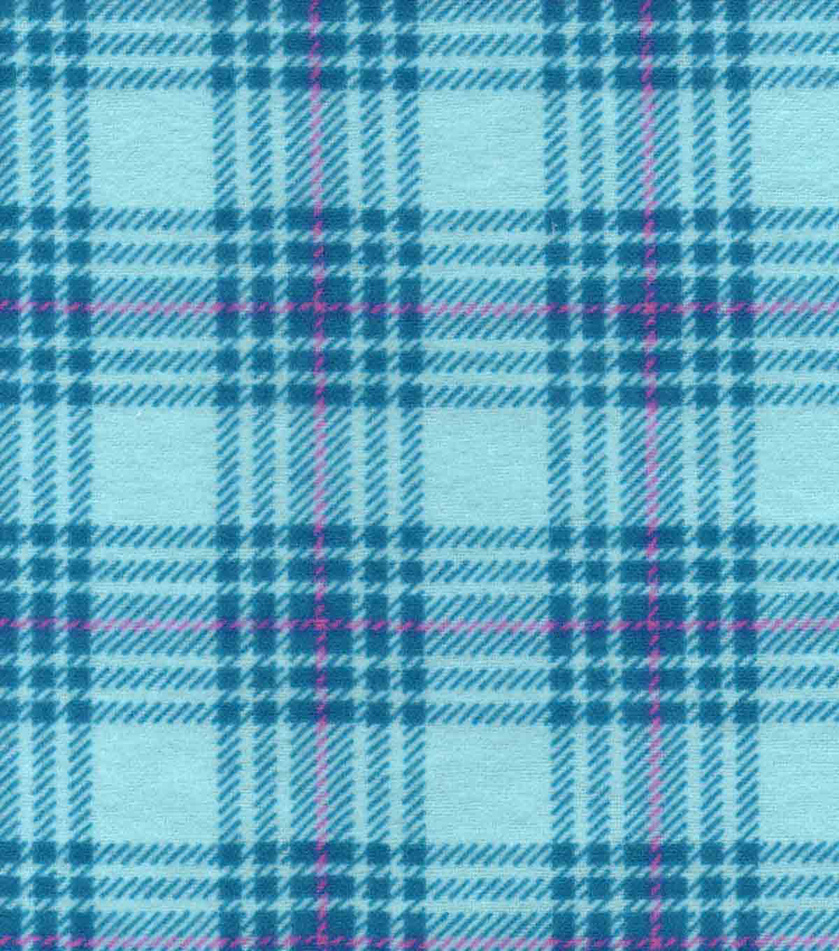 Snuggle Flannel Fabric 42\u0022-Hadley Plaid Teal