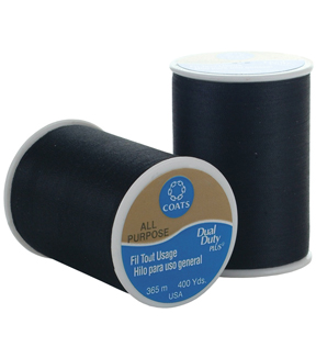 Coats Dual Duty All-Purpose Thread 400yd-Black Multipack of 12