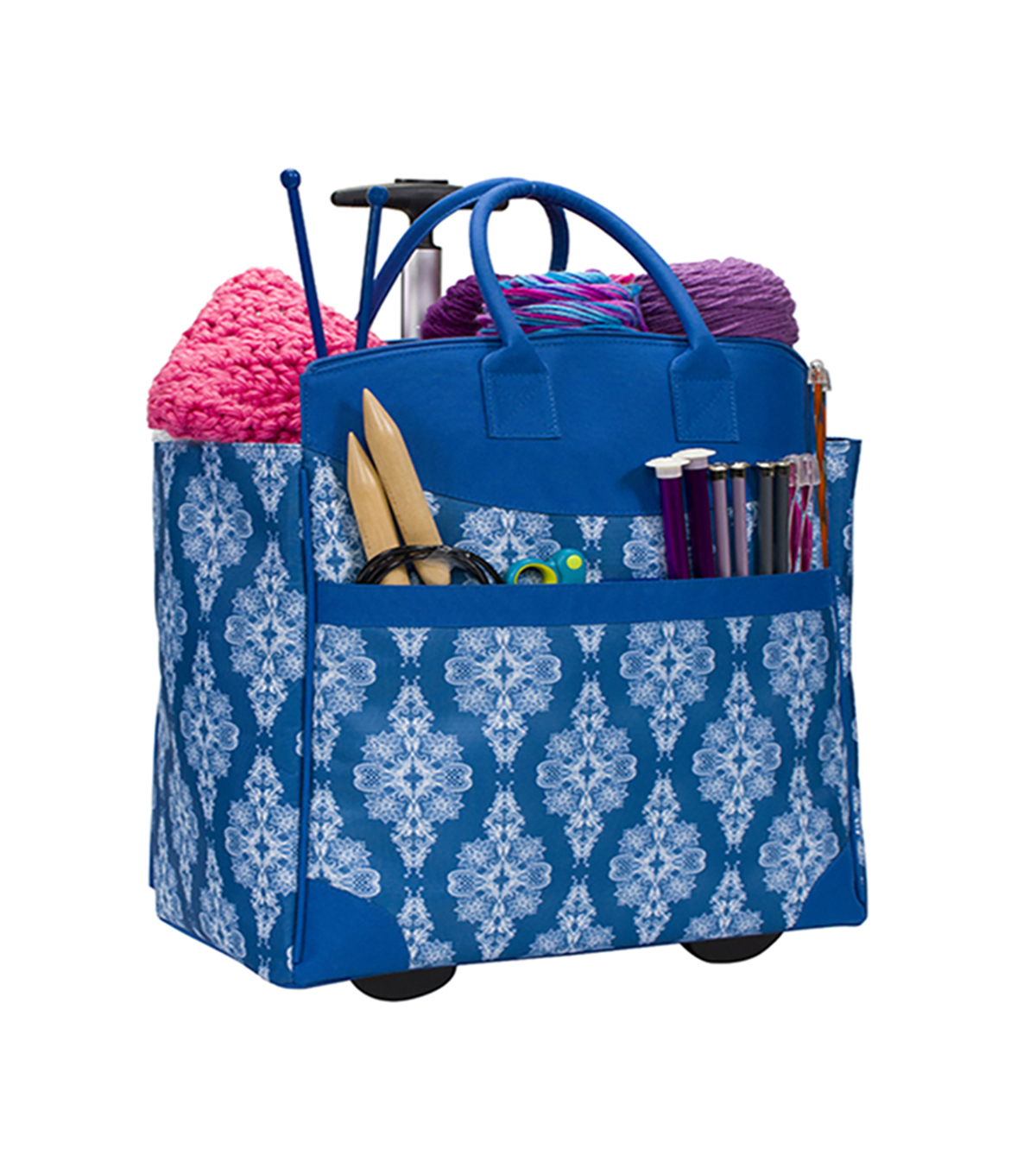 Everything Mary Rolling Yarn Tote-Blue