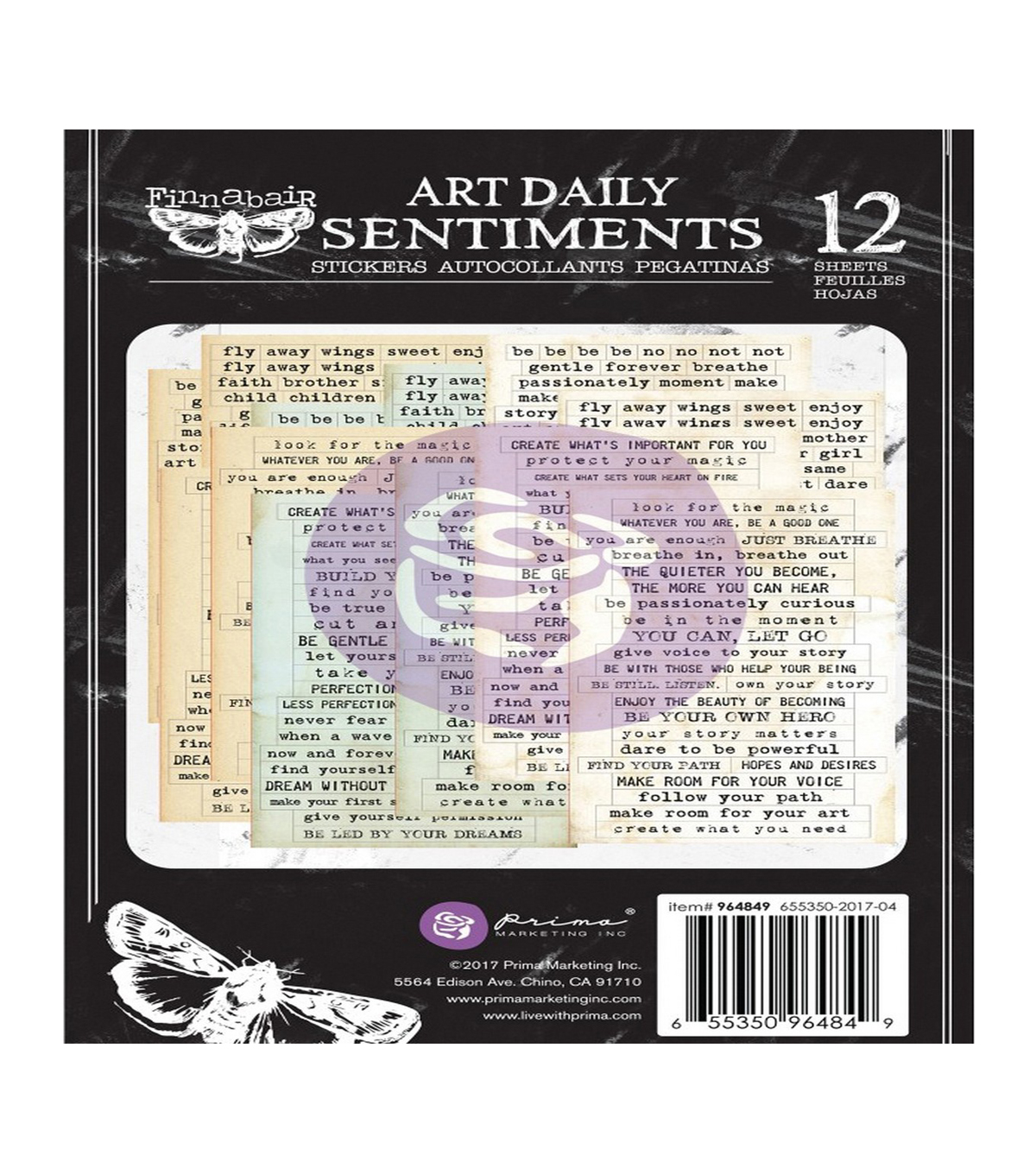 Prima Marketing Finnabair Art Daily Planner Stickers-Sentiments