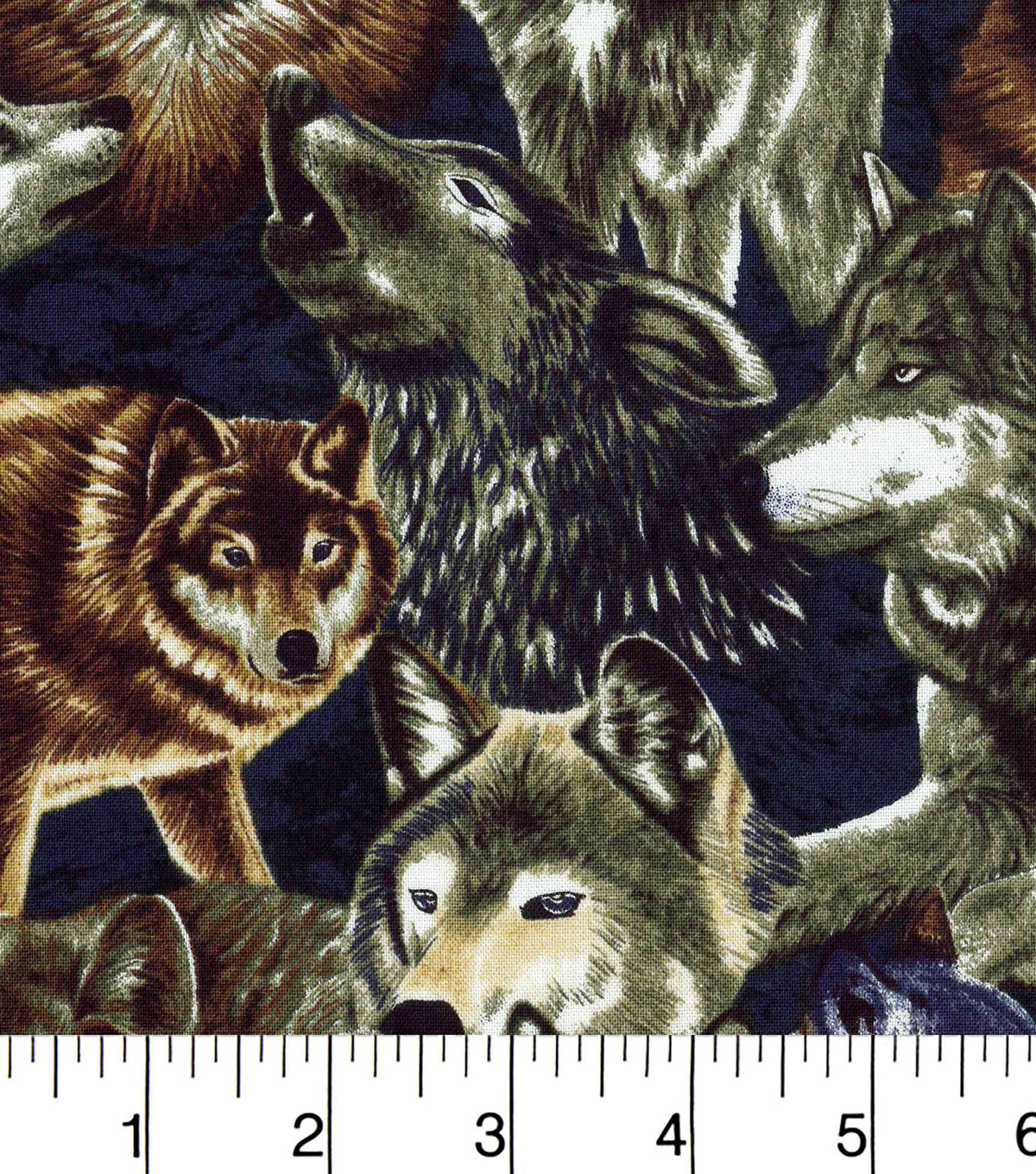 Novelty Cotton Fabric-Wolves