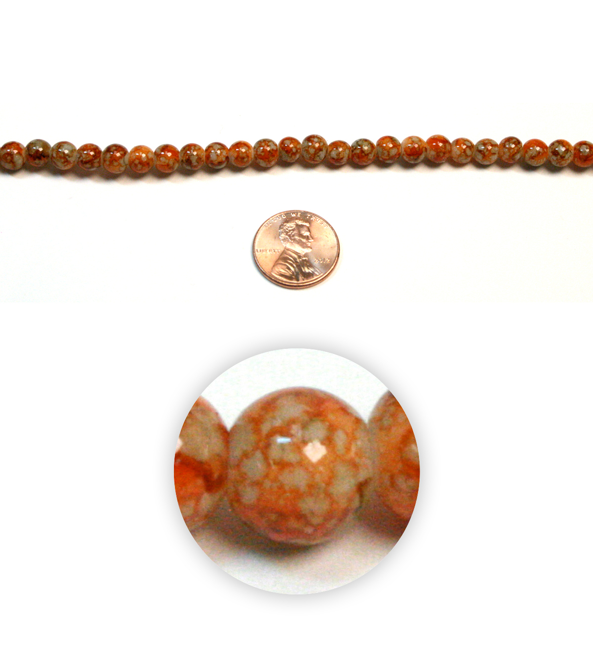 Small Marble Glass Beads