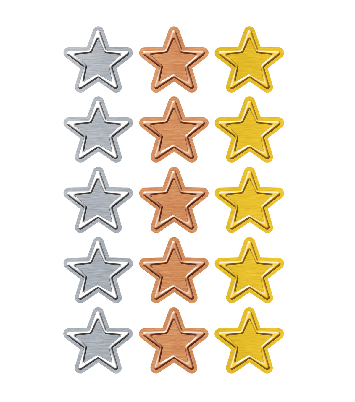 I ? Metal Stars superShapes Stickers-Large 20 Per Pack, 6 Packs