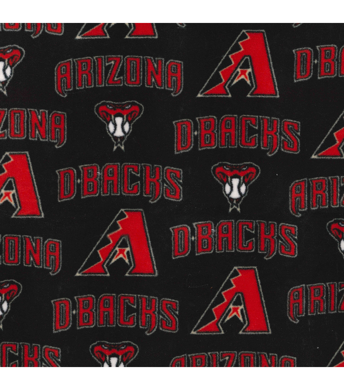 Arizona Diamondbacks Fleece Fabric 58\u0022-Logo