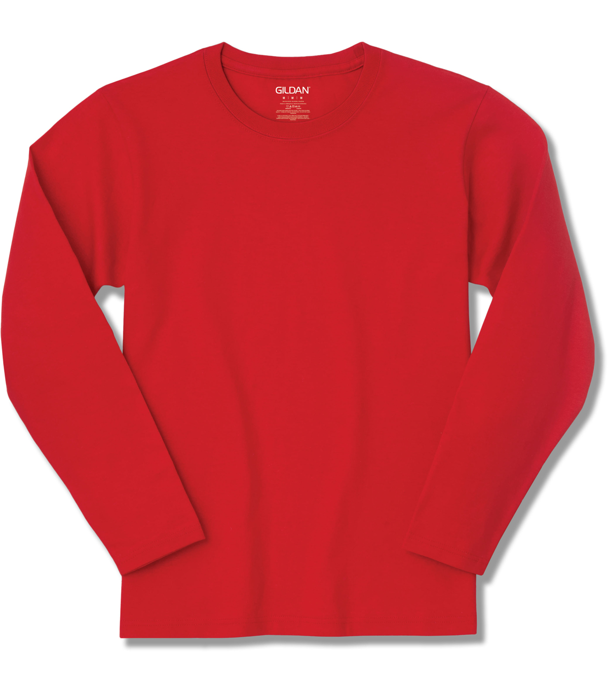 Gildan Large Youth Long Sleeve T-shirt, Red