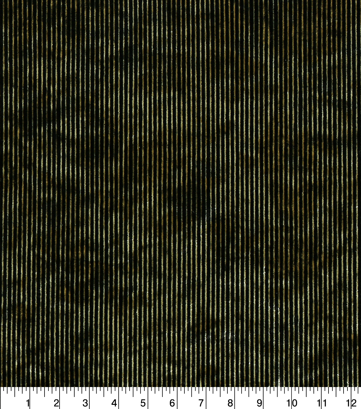 The Witching Hour Halloween Think Strip Velvet Fabric-Gold Black