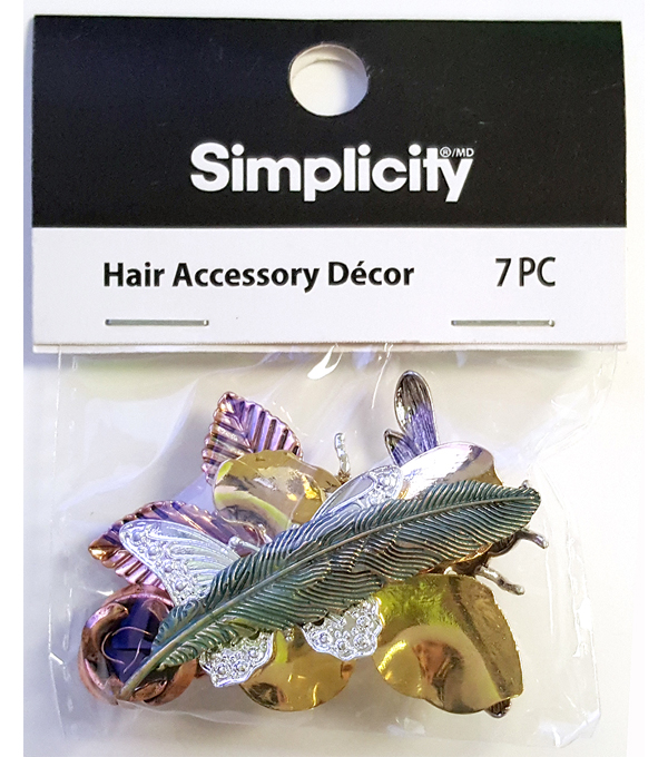 Simplicity 7 pk Assorted Hair Accessory Decor Cabochons-Nature