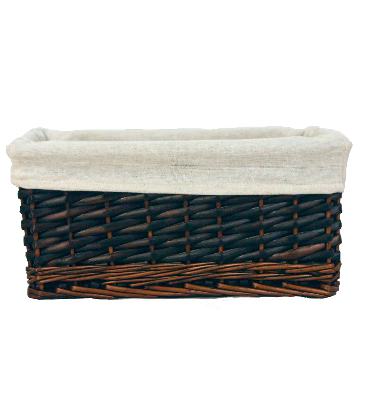 Organizing Essentials Willow Lined Media Basket