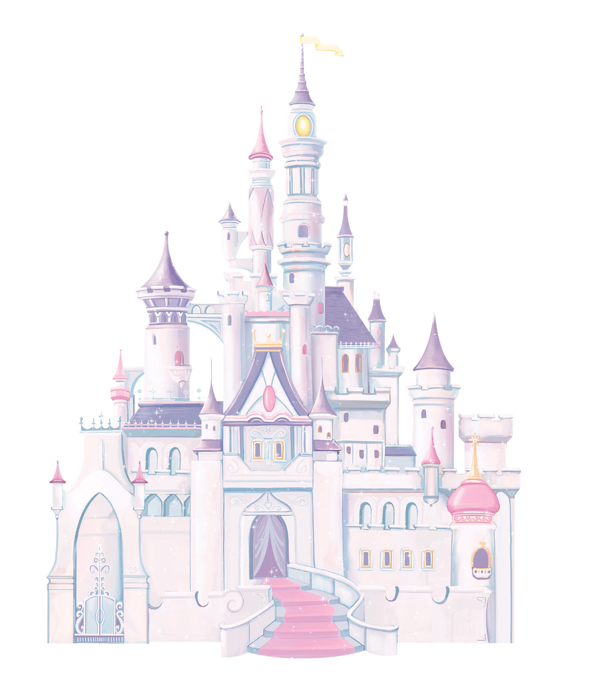 York Wallcoverings Wall Decals-Disney Princess Castle