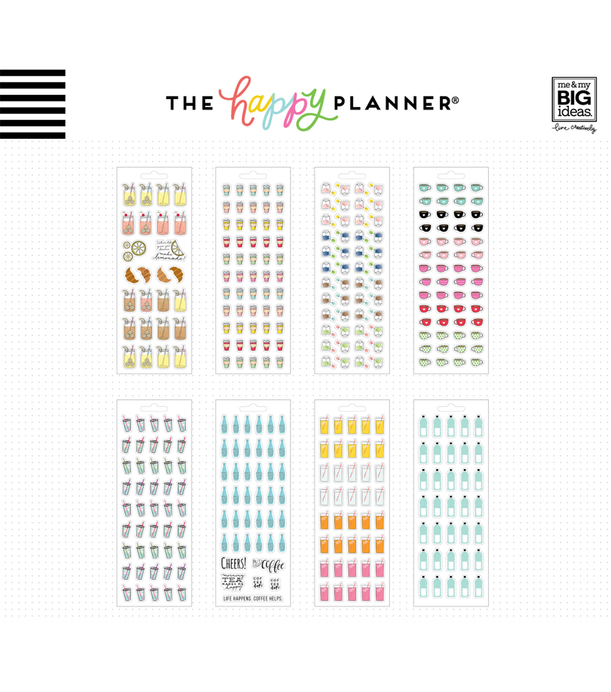 The Happy Planner Stickers-Drinks