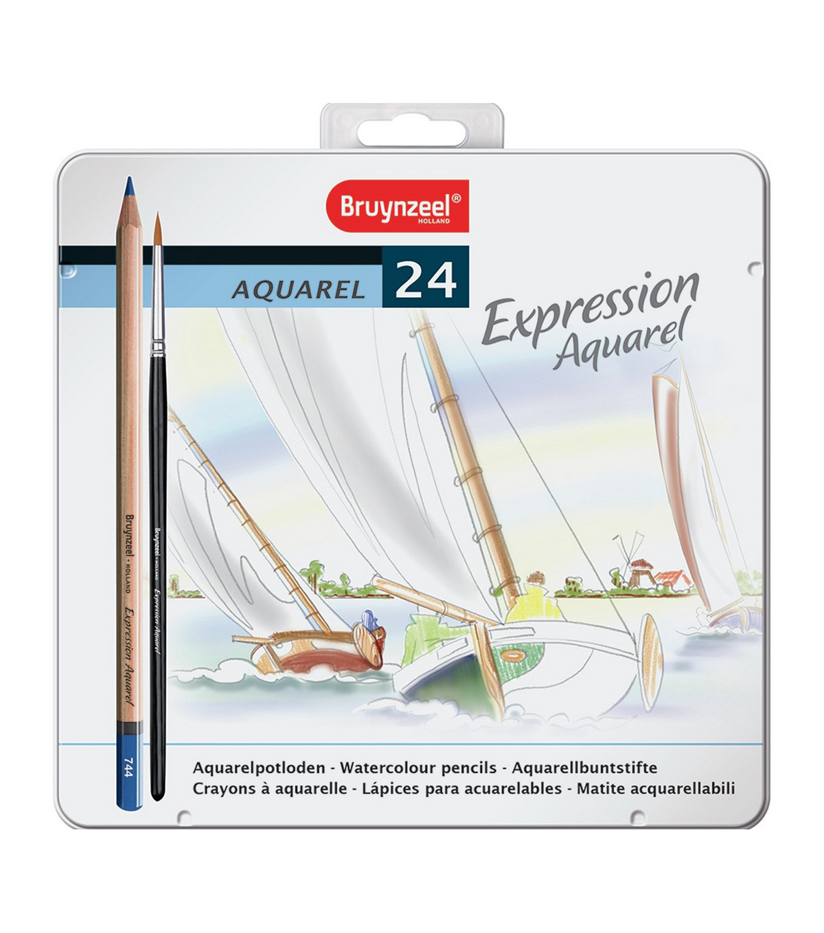 Bruynzeel 24 pk Expression Aquarel Watercolour Pencils with Tin