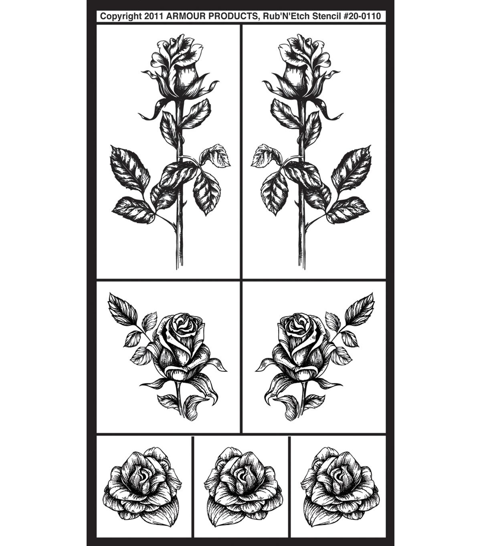 Rub 'n Etch Glass Etching Stencils-Group #4
