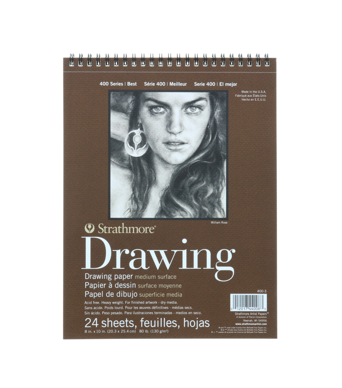 Strathmore 400 Series 24 Sheets 8\u0027\u0027x10\u0027\u0027 Drawing Pad