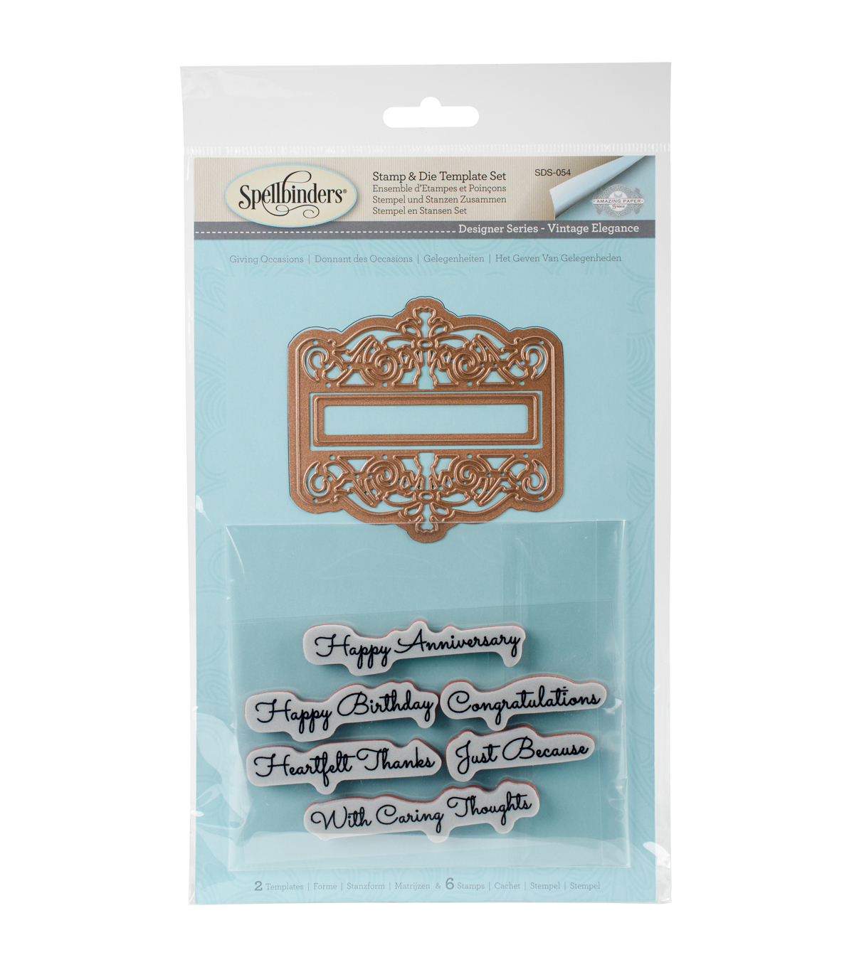Spellbinders Amazing Paper Grace Stamp & Die Set-Giving Occasions