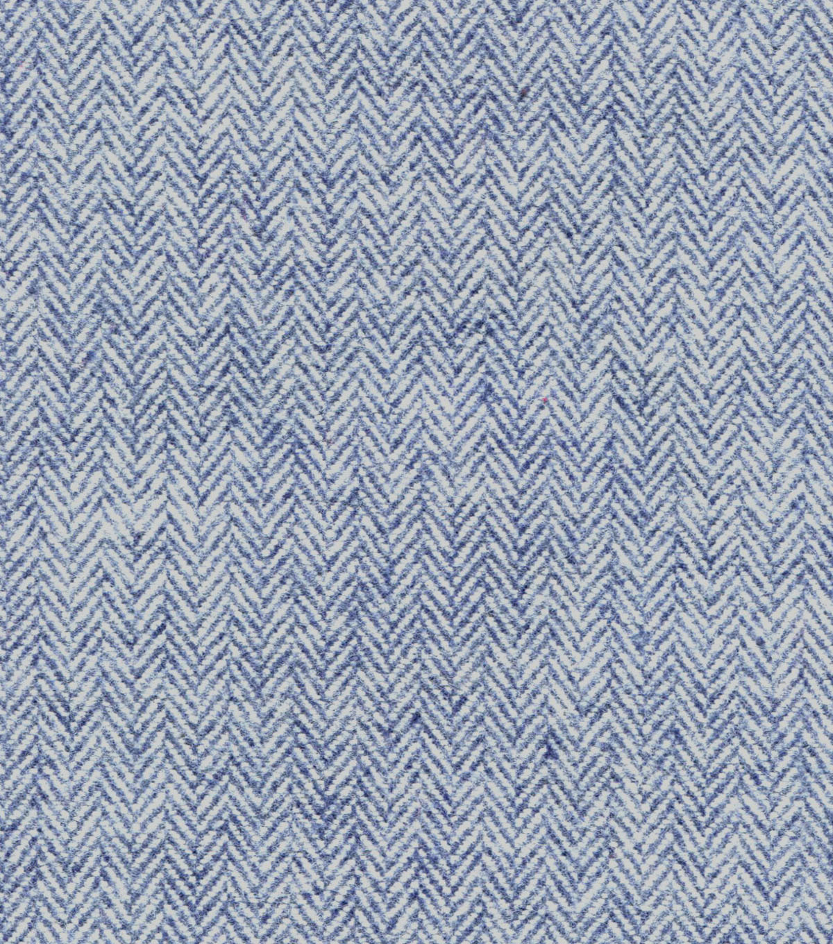 Plaiditudes Brushed Cotton Fabric -Herringbone Navy