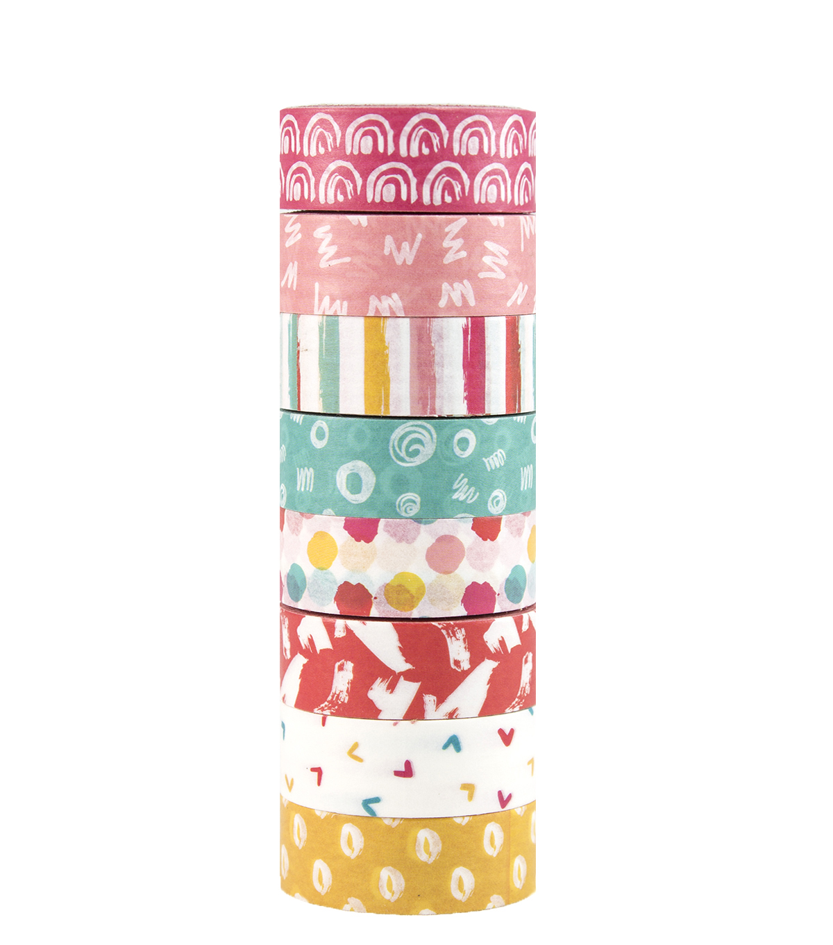 Park Lane 8 pk Washi Tapes 0.6\u0027\u0027x10 yds-Touch of Paint