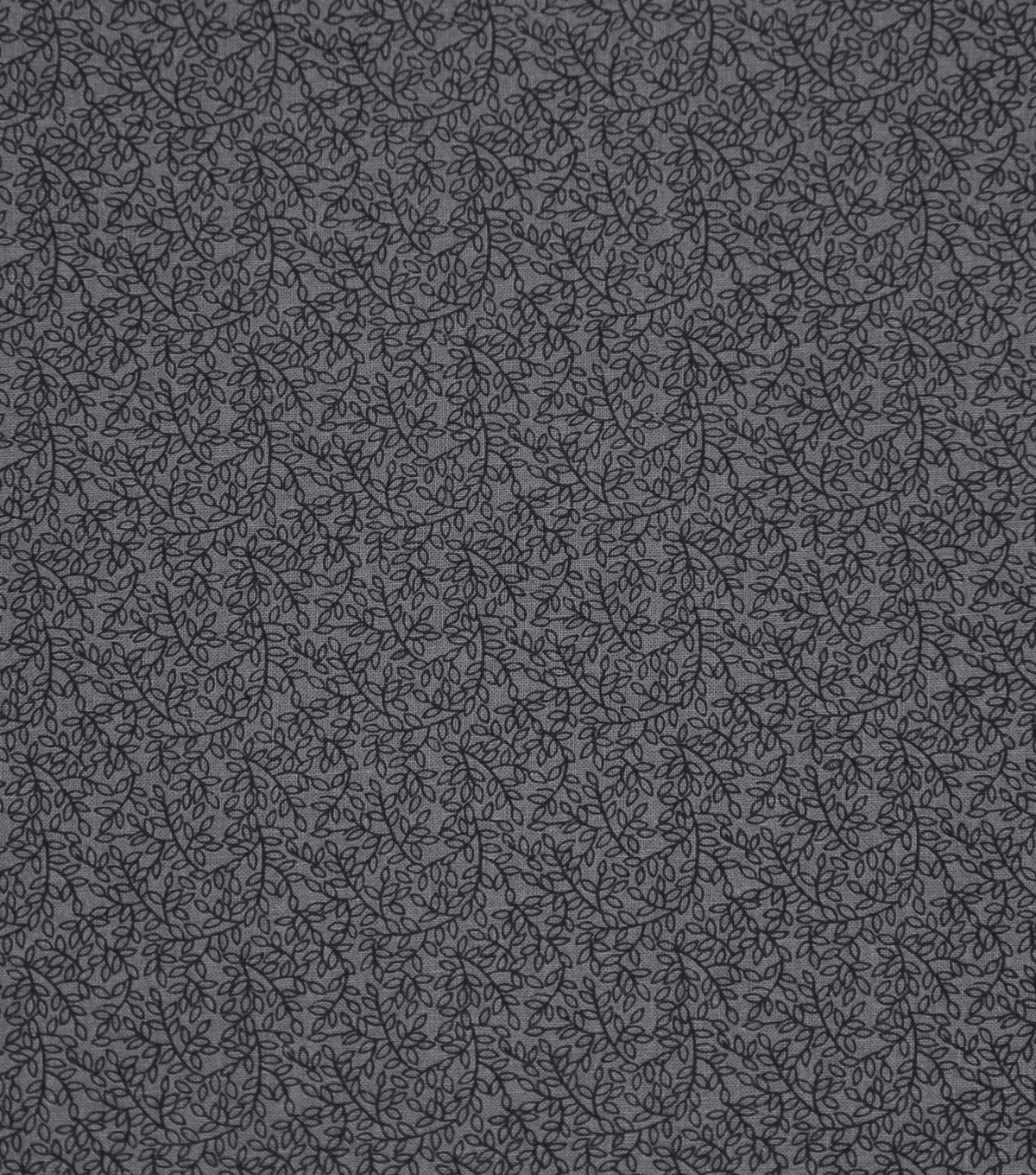 Wide Cotton Fabric-Gray Tiny Vine