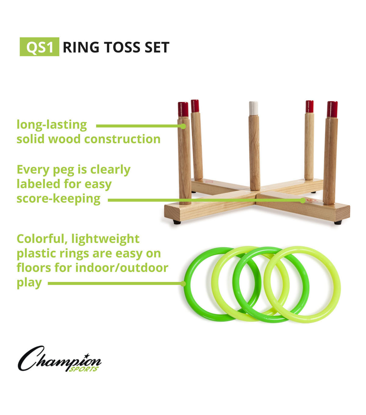 Wooden Ring Toss Set