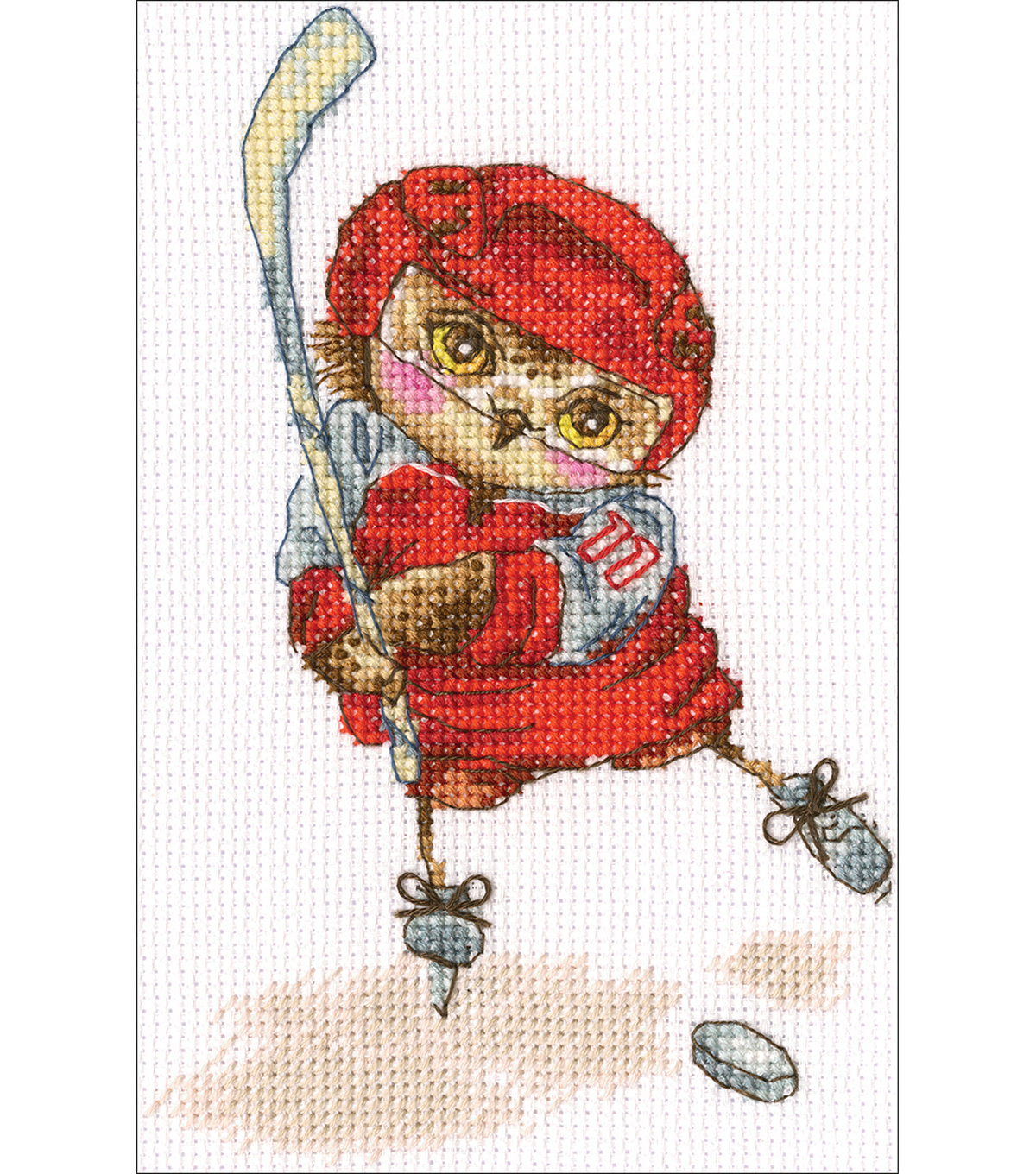 RTO 6\u0027\u0027x6.29\u0027\u0027 Counted Cross Stitch Kit-Shoot The Puck!