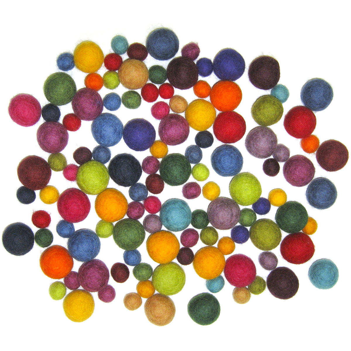 Feltworks Embellishments Value Pack Ball Assortment-115/Pkg
