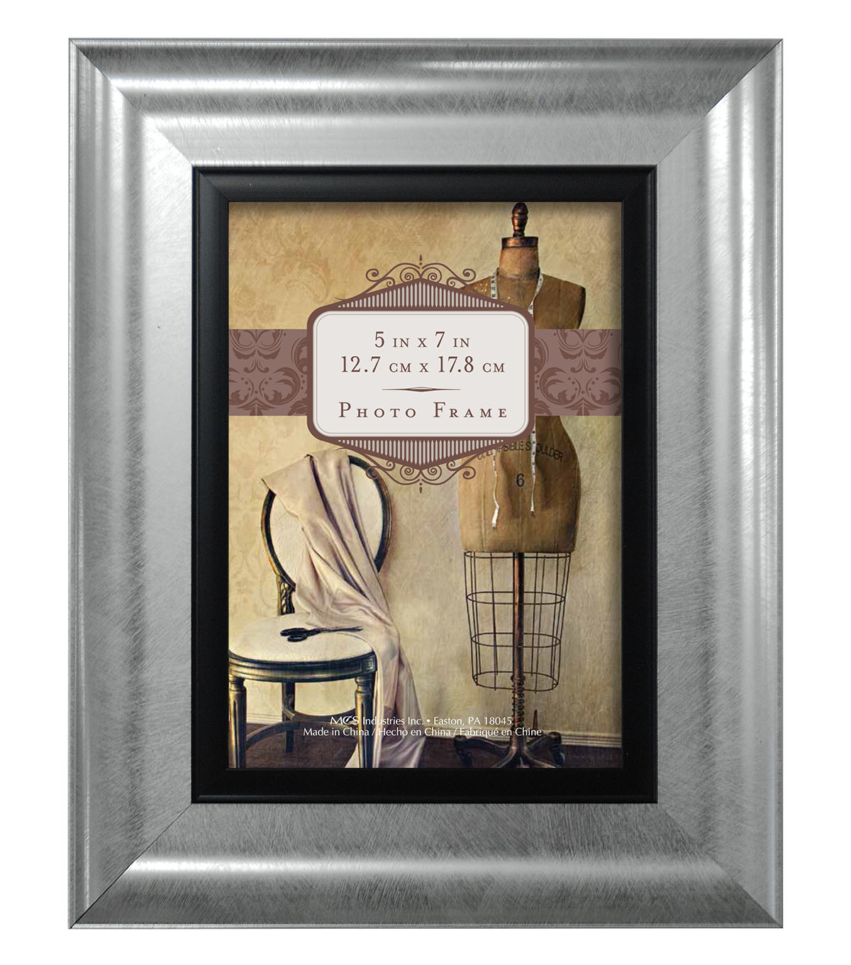 Tabletop Frame 5X7-Wedded Bliss Silver Black