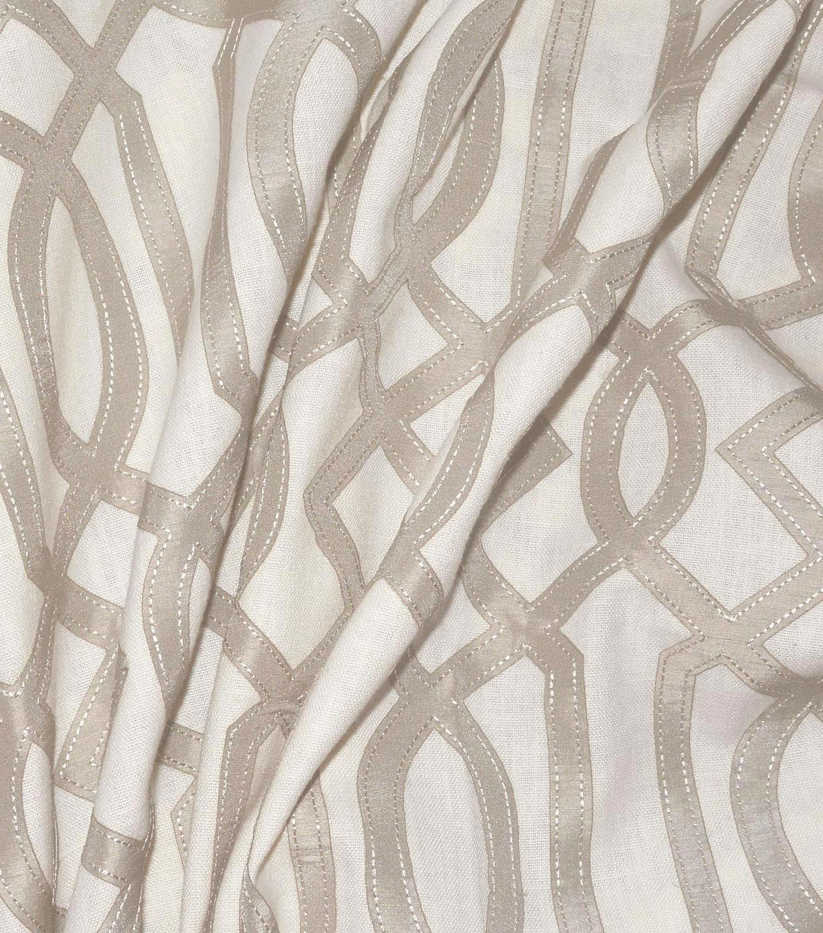 Waverly Multi-Purpose Decor Fabric 54\u0022-Cutout Emb Sterling