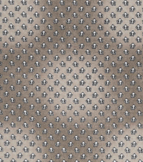 Vintage Cotton Fabric -Mini Tulips on Gray