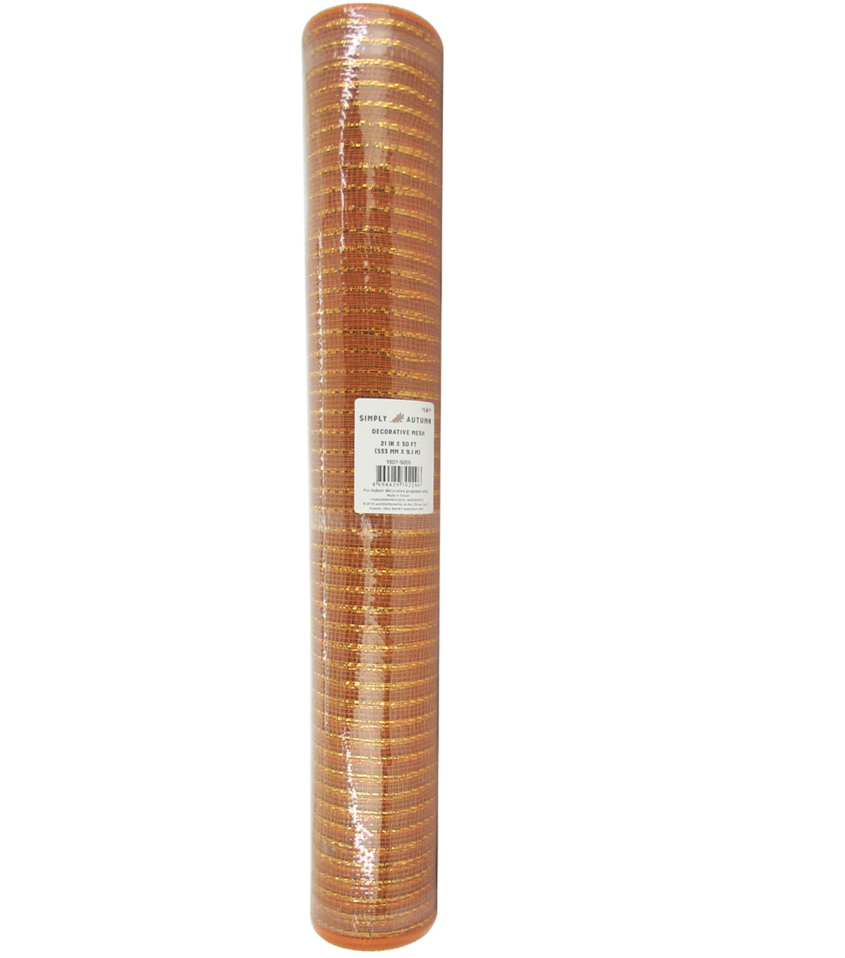 Simply Autumn Decorative Mesh Ribbon 21\u0027\u0027x30\u0027-Orange