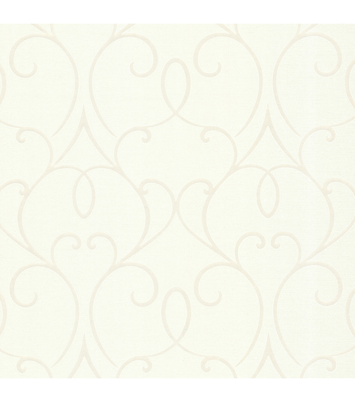 Mila White Mini Classical Wallpaper Sample
