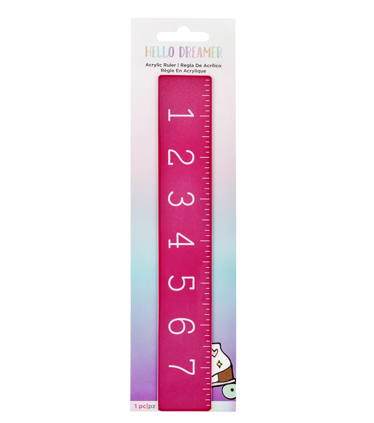 American Crafts Hello Dreamer 8\u0027\u0027 Acrylic Ruler