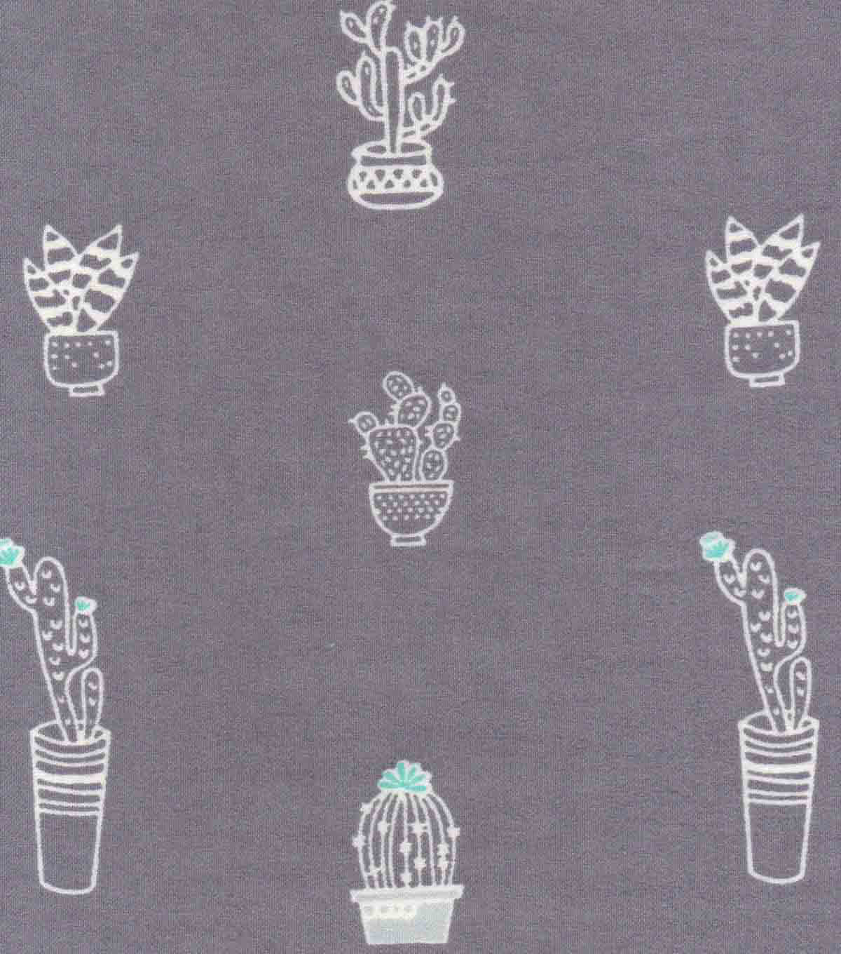 Luxe Flannel Fabric 42\u0022-Sketched Cactus