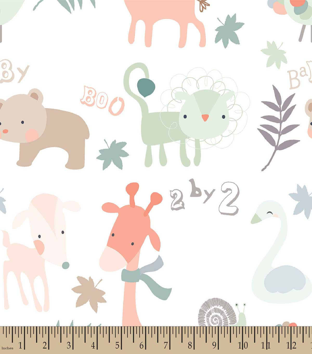 Two by Two Animals Print Fabric