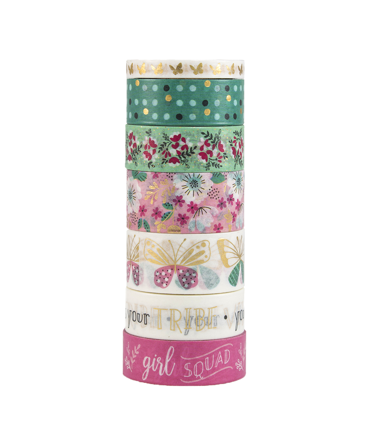 Park Lane 9PK Washi Tape-Flutter
