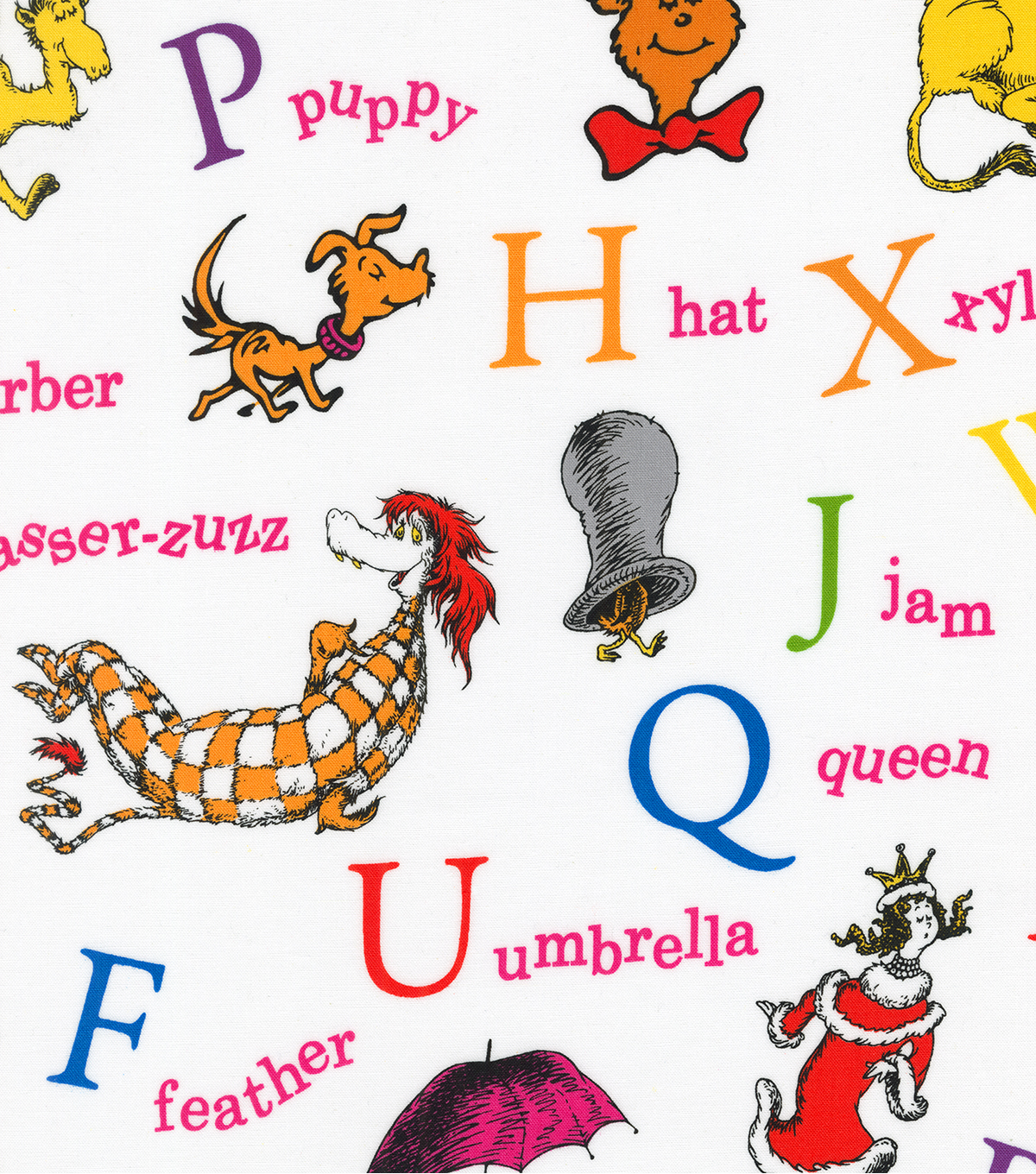 Dr Seuss Cotton Fabric 44 Alphabet Joann