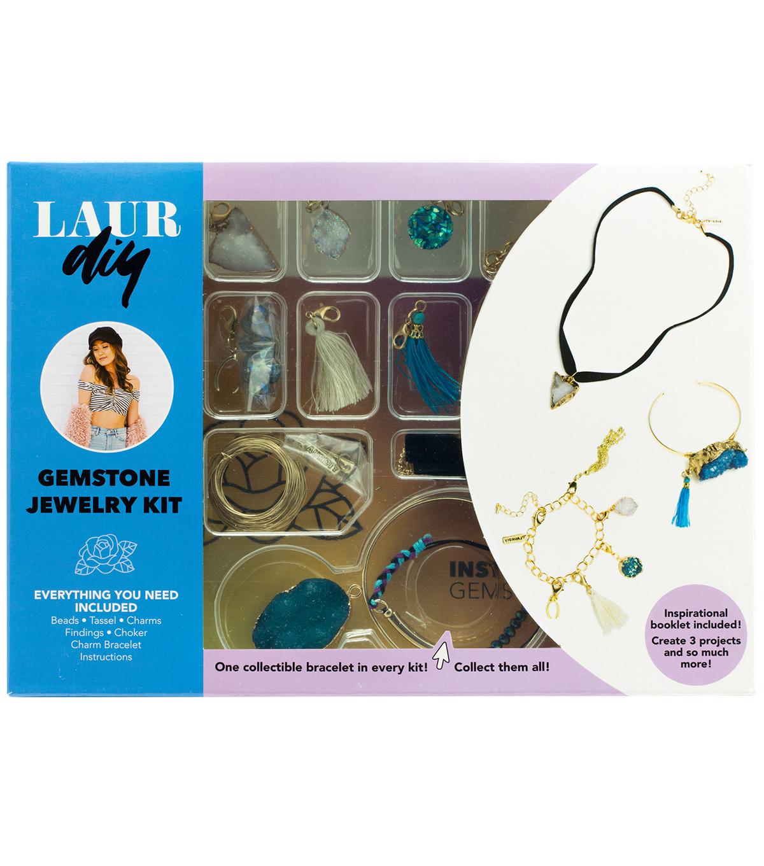 0a709672dbef7 LaurDIY Gemstone DIY Jewelry Kit